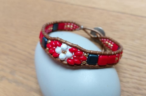 bracelets;wraps;perles;Abby