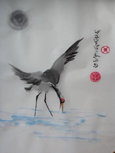 aquarelle,sumi-e,peinture chinoise,oiseaux,abby,encre
