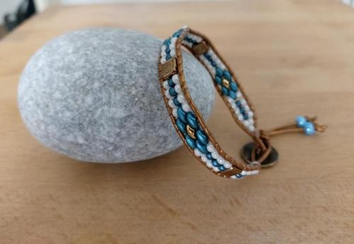 bracelets;wraps;perles;abby;bijou;fait main