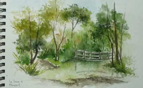 arbres,rivière,pont,reflets,ardennes,campagne